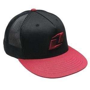 One Industries Crosley Trucker Hat   Adjustable/Black/Red