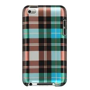 APPLE IPOD TOUCH 4 PROTECTOR CASE   BLUE CHECKER   RETAIL