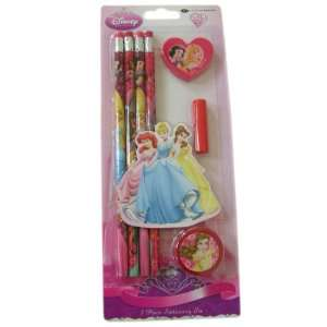 Disney Princess Series Ariel, Belle and Cinderella 7 Piece