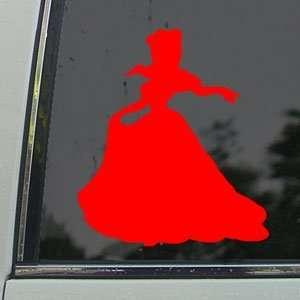 Disney Red Decal Cinderella Car Truck Window Red Sticker