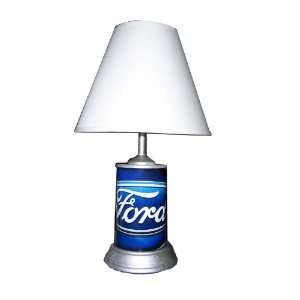 Dodge Logo Camo (Ram Emblem) 18 Tall Table Lamp with white satin