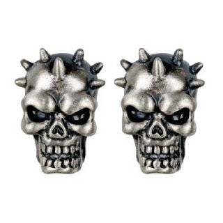 Spike Skull Stud Earrings   Collectible Dangle Jewelry Accessory