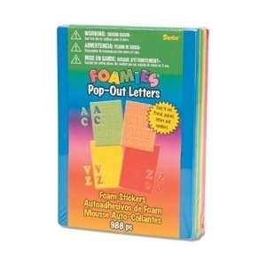 Darice Foam Stickers Pop Out Letters 16 Sheets/Pkg Memoir
