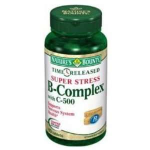 Super Stress, Vitamin B Complex TR with Vitamin C, 500 mg, 60 tablets