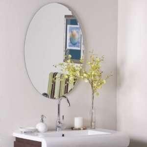 SSM3002 Modern Oval Frameless Wall Mirror SSM3002