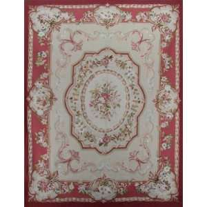 All Over Design French Hand Hooked Hand Weave Aubusson Area Rug S160