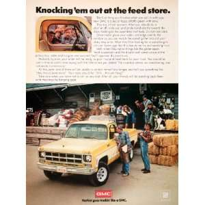 1978 Ad GMC Farming Agriculture Pickup Truck Hay Bale Jennings Feed