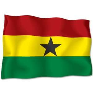 GHANA Flag car bumper sticker decal 6 wide x 4 high