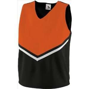 Ladies/Girls Cheerleaders Uniform Pride Shells BLACK/ ORANGE/ WHITE GL