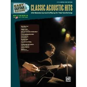 Easy Guitar Play Along Classic Acoustic Hits Easy Guitar Tab (Book