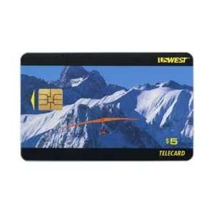 Collectible Phone Card $5. Adventure Hang Glider   Snow