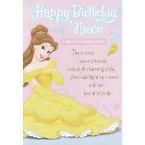 Greeting Card Birthday Disney Princess Happy Birthday