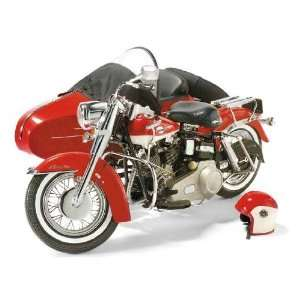 10 1965 Harley Davidson Electra Glide with Sidecar: Red: Toys & Games