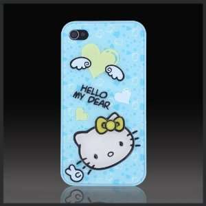 Blue Hello Kitty 3D Angel Heart Signature Xcellence Textured case