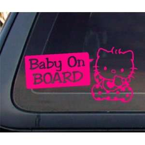 CUTE Baby on Board Decal / Sticker   HOT Pink Automotive