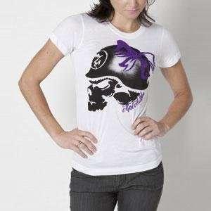 Metal Mulisha Womens Bowmont T Shirt   X Small/White