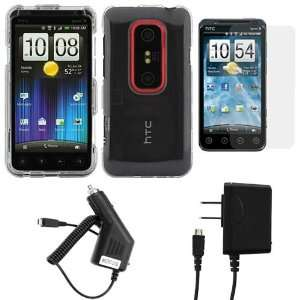 Crystal Clear Hard Snap On Protective Cover Case + Clear LCD Screen