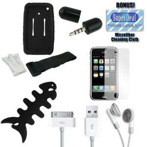 Screen protector (3 Pack) + Mini Microphone for iPhone 3G/iPod/Touch