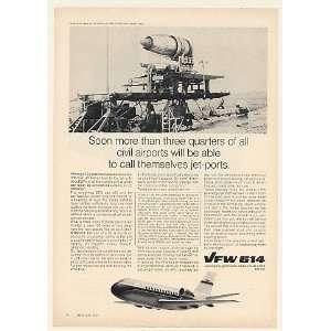 1971 VFW 614 Jet Aircraft Rolls Royce Snecma M45H Engine