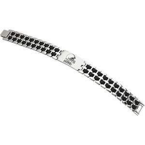 Genuine St. Anton Bracelet. Stainless Steel Cleveland Browns Stainless