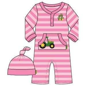 Pink Newborn Baby Creeper with Hat Baby