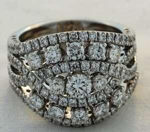 White Gold Diamond Leo Pizzo Ring (2.59 ct. tw.) Leo Pizzo Jewelry