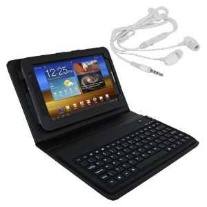 Premium Skque Black Leather Case with Bluetooth Keyboard