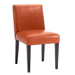 west elm Garvey Side Chair, Leather, Carrot