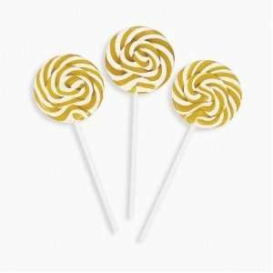 Gold Swirl Pops   Lollipop Suckers (2: Grocery & Gourmet Food