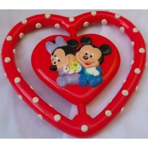 Club House, Mickey Minnie Red Love Heart Rattle Toy Toys & Games