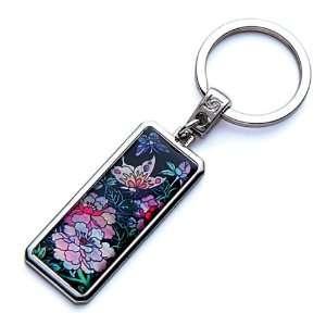 Handmade Craft Luxury Novelty Cool Metal Keychain Key Ring Fob Holder