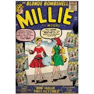 Marvel Comics Retro Millie the Model Comic Book Cover #100, How