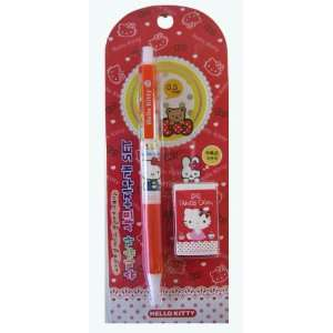 Hello Kitty Mechanical Pencils And Eraser Set   Hello