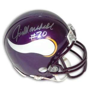 Jim Marshall Minnesota Vikings Autographed Mini Helmet: