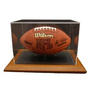 Base Football Display With NFL Team Logo Option