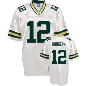 Rodgers Jersey Reebok White Replica #12 Green Bay Packers Jersey SZ L