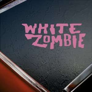 White Zombie Pink Decal Car Truck Bumper Window Pink