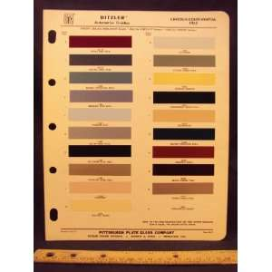 1962 LINCOLN Continental Paint Colors Chip Page Ford
