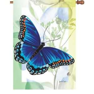 New Premier Designs Sapphire Butterfly House Flag 28 X 40 High Quality
