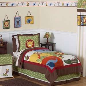 Jungle Time Children & Kids Bedding   3 pc Full / Queen Set: