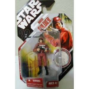 Star Wars Naboo Soldier Action Figure with Coin Toys & Games