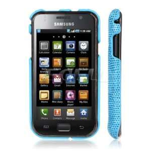Ecell   BLUE SNAKE SKIN BACK CASE FOR SAMSUNG I9000 GALAXY