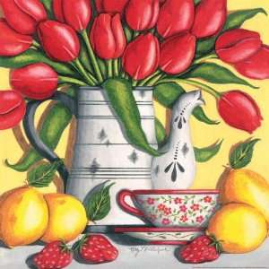 Red Tulips 750 Piece Jigsaw Puzzle Toys & Games