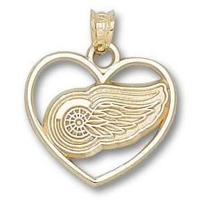 Detroit Red Wings Logo Heart Charm/Pendant Sports