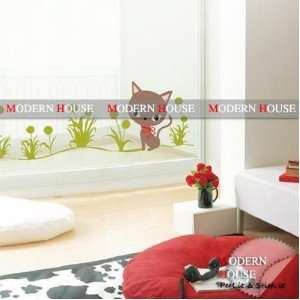House Kitten over Grass removable Vinyl Mural Art Wall Sticker Decal
