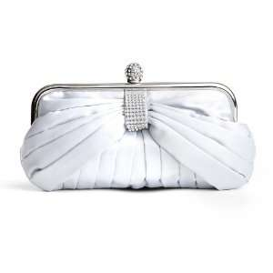Satin Prom or Bridesmaid Purse with Rhinestones