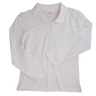 French Toast School Uniforms Long Sleeve Skinny Placket Fitted Polo