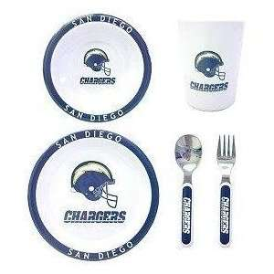 San Diego Chargers NFL Childrens 5 Piece Dinner Set