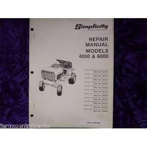 Simplicity Models 4000 & 6000 OEM Service Manual Simplicity