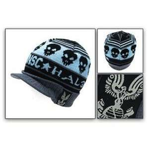 HALO UNSC Skull Logo Knitted Beanie Style HAT Everything